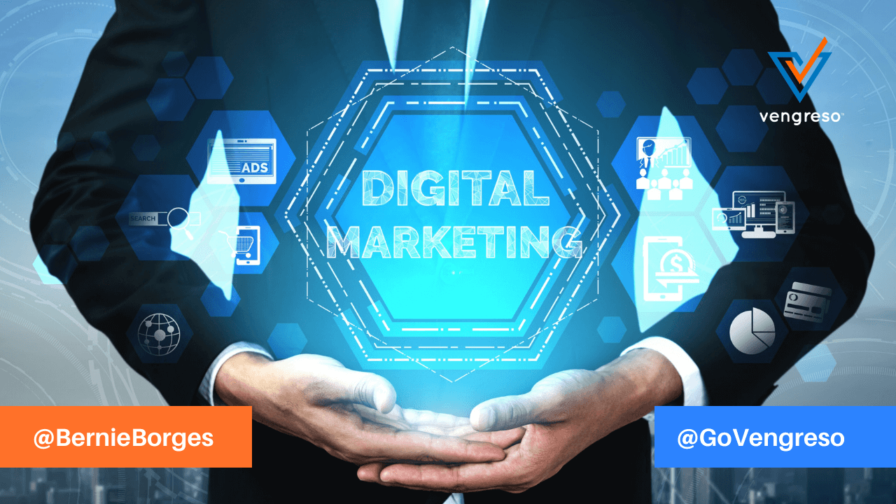 business man - digital marketing and integrated concept