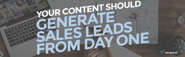 How to Design a Content Strategy that Generates Sales Leads Day One 640x200