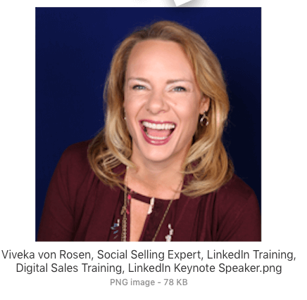 Viveka von Rosen headshot - 15 LinkedIn Profile SEO Tips for Getting Found