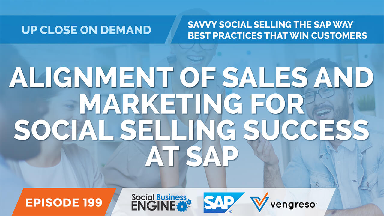 Alignment of Sales and Marketing for Social Selling Success at SAP