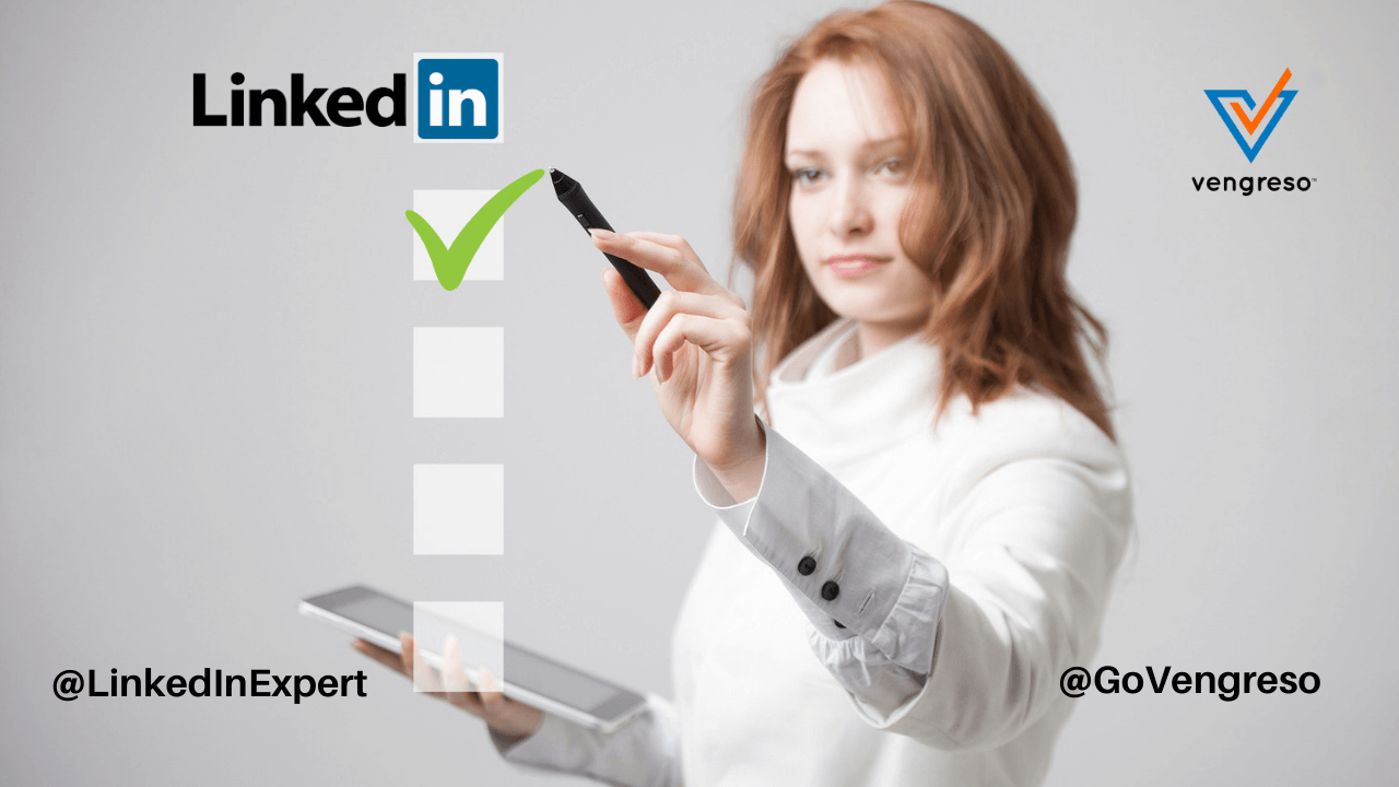 Woman Sales Leader Checklist - LinkedIn Checklist