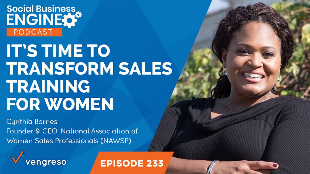 Cynthia Barnes podcast interview on women in sales