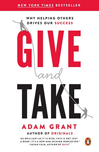 Best sales book - Give and Take by Adam Grant