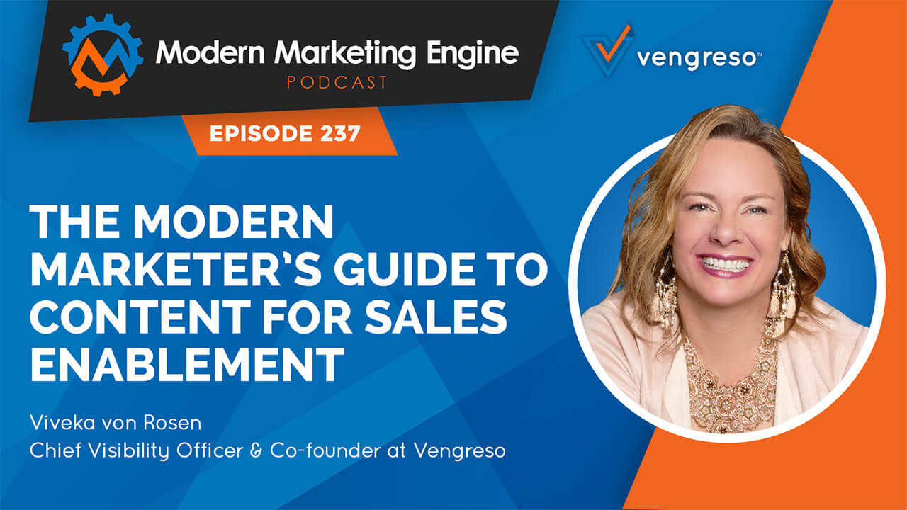 Viveka von Rosen podcast interview on Modern Marketing for Sales Enablement