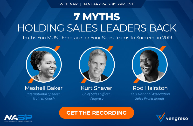 Get the Recording of the webinar 7 Sales Leadership Myths
