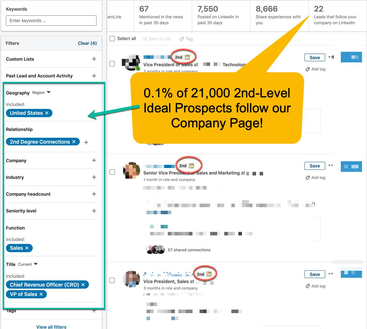 Tips on how to use LinkedIn Sales Navigator to find warm leads