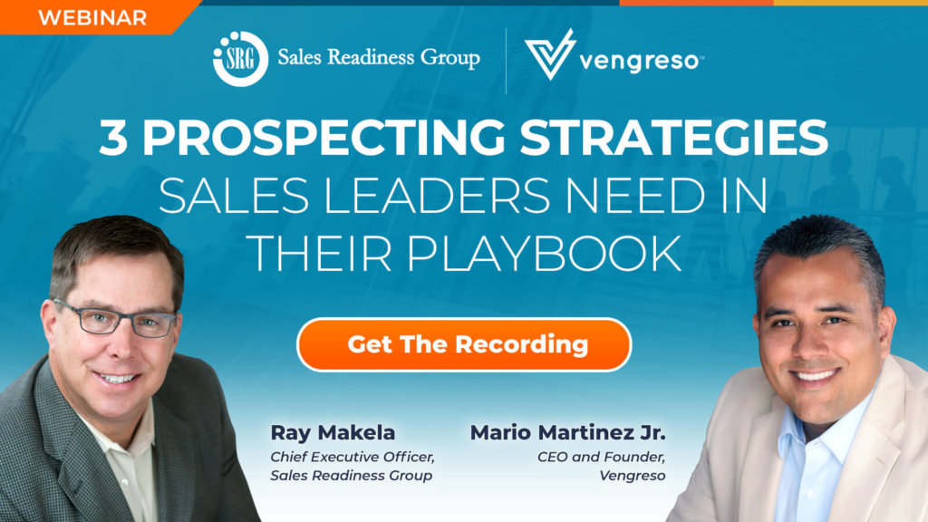 Webinar - Three Prospecting Strategies Sales Leaders Need