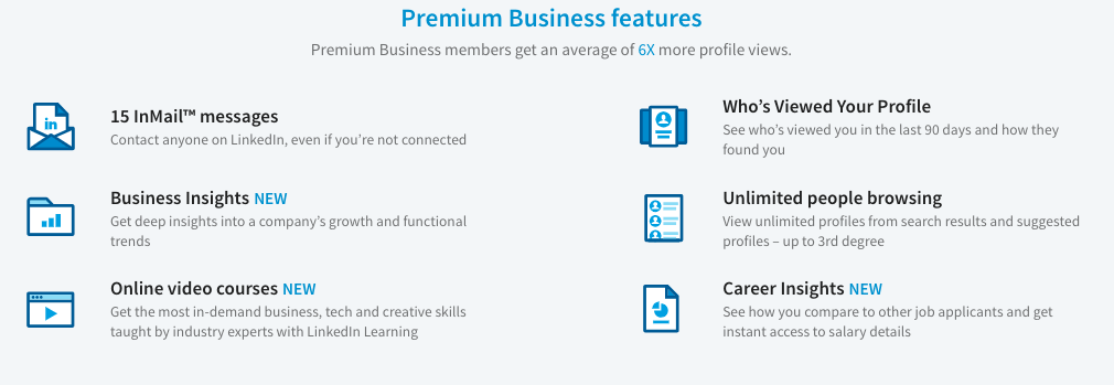 LinkedIn Premium Business Benefits